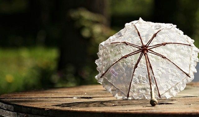 今日のラッキーアイテム「日傘」