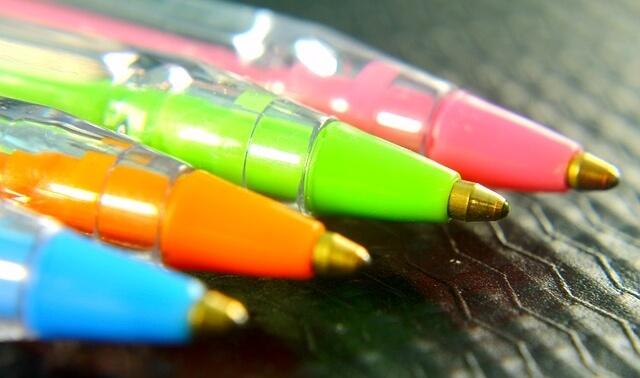 今日のラッキーアイテム「ボールペン」