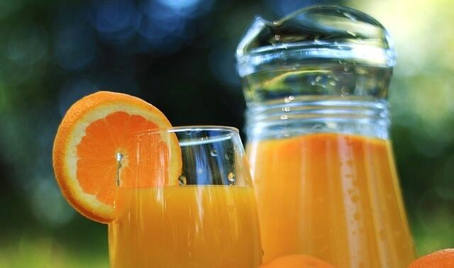 今日のラッキーアイテム「オレンジジュース」