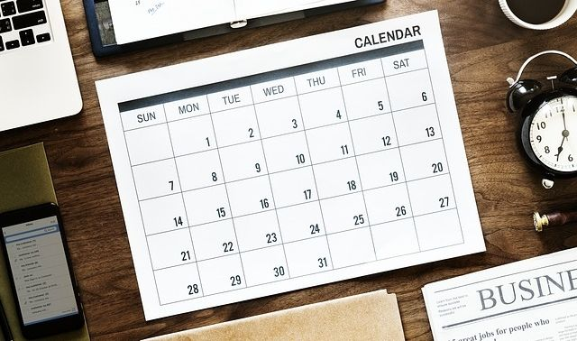 ラッキーアイテム「カレンダー」