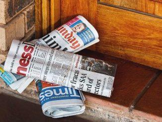 今日のラッキーアイテム「新聞紙」