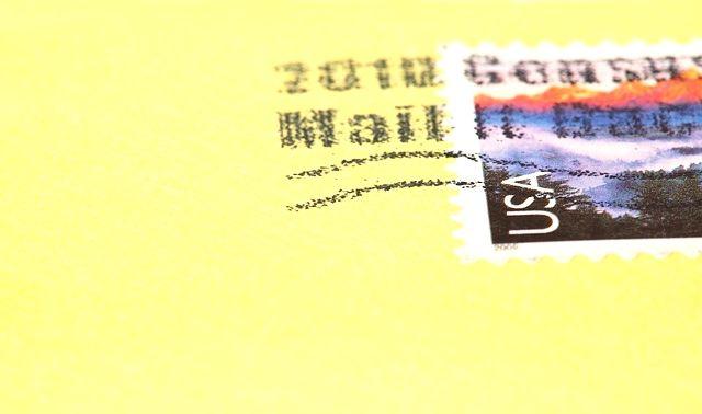 今日のらっきアイテム「切手」