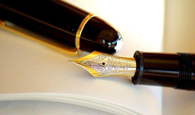 今日のラッキーアイテム「万年筆」の画像