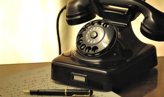今日のラッキーアイテム「電話」